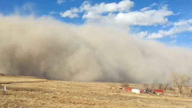Tormenta de polvo en Oklahoma
