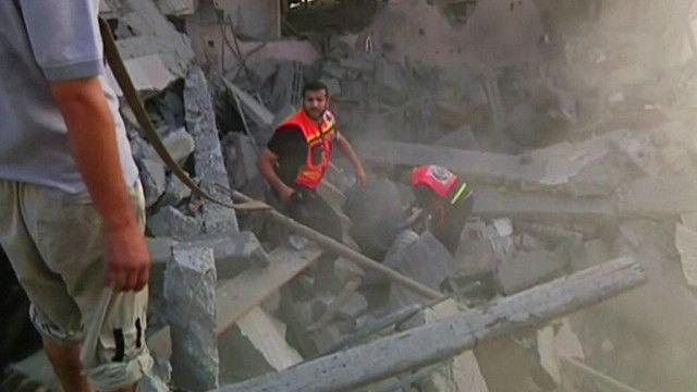 اثار القصف الاسرائيلي على غزة