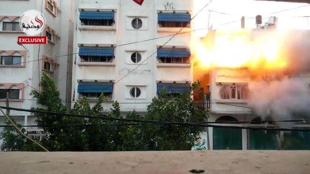 Casa derrumbada por misil