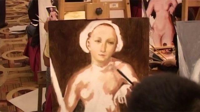 کپی یکی از تابلو های نشنال گالری