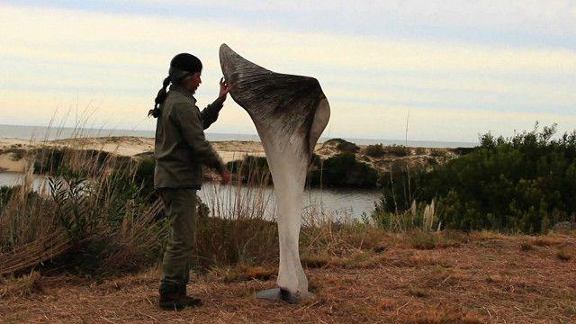 Escultura de hueso de ballena