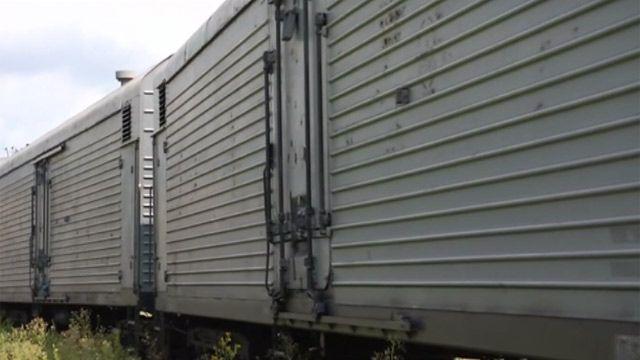 Поезд с останками пассажиров малазийского Боинга прибывает в Харьков