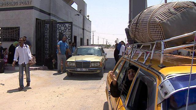 Cruce fronterizo de Rafah, entre Gaza y Egipto