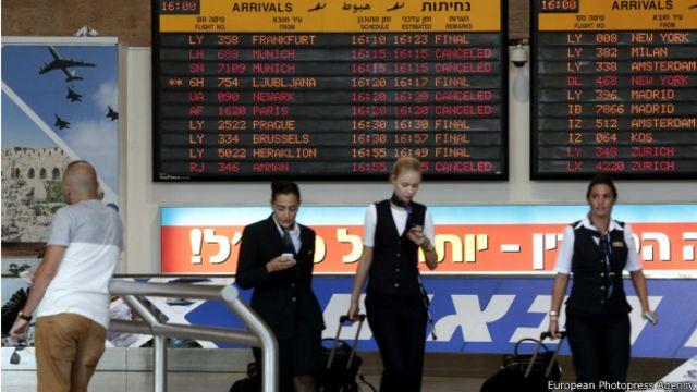 Sigue prohibición de vuelos de EE.UU. a Israel