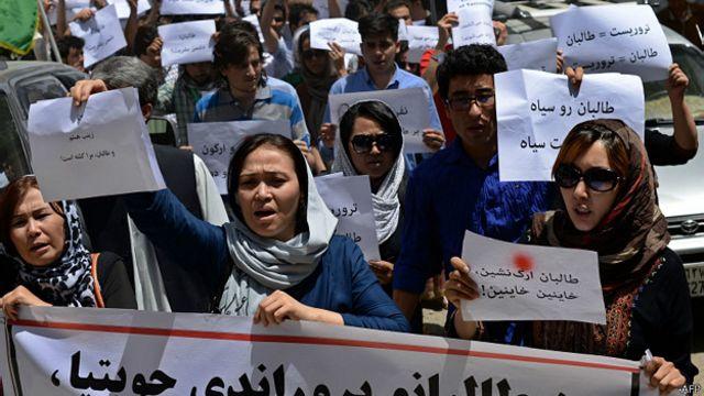 Afganos protestan contra el Talibán en varias provincias