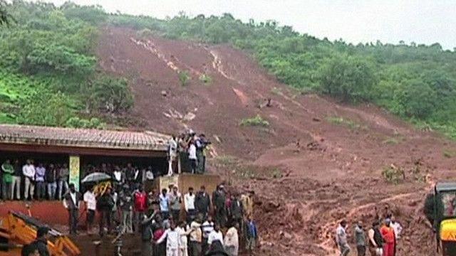 انهيار ارضي غرب الهند