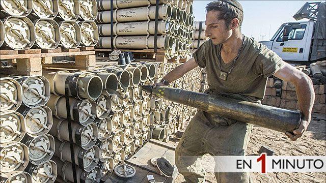 Soldado israelí reponiendo arsenal