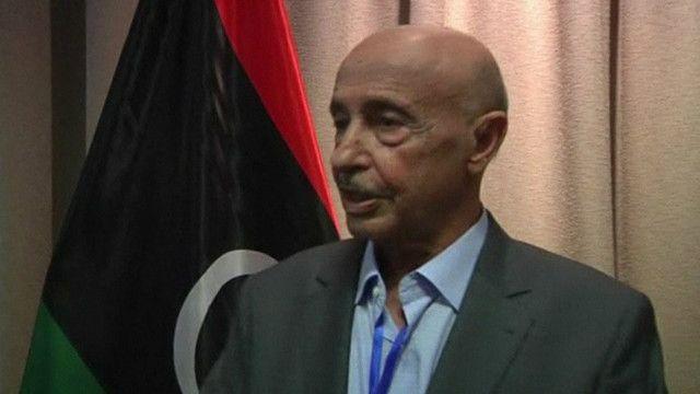 رئيس البرلمان الليبي الجديد عقيلة صالح عيسى قويدر