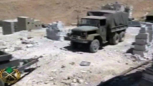مركبة عسكرية في عرسال اللبنانية