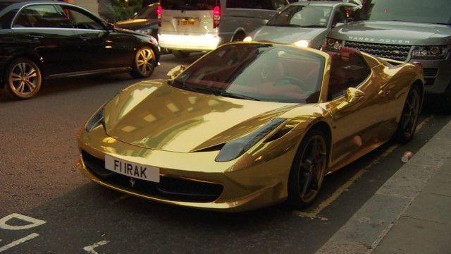 Carros luxuosos em Londres (BBC)