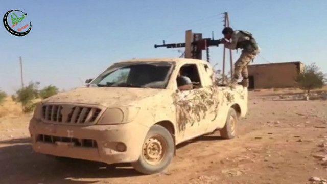 سيارة عسكرية في سوريا