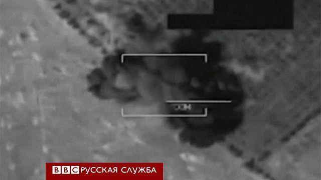Бомбардировка в Ираке - съемка ВВС США