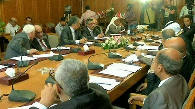 المفاوضون من الجانب العربي في مصر