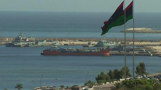 منظر للمينا في ليبيا