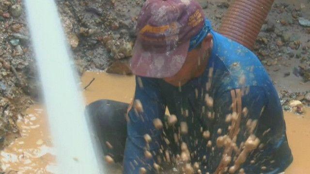 Minero en Sifontes, Venezuela