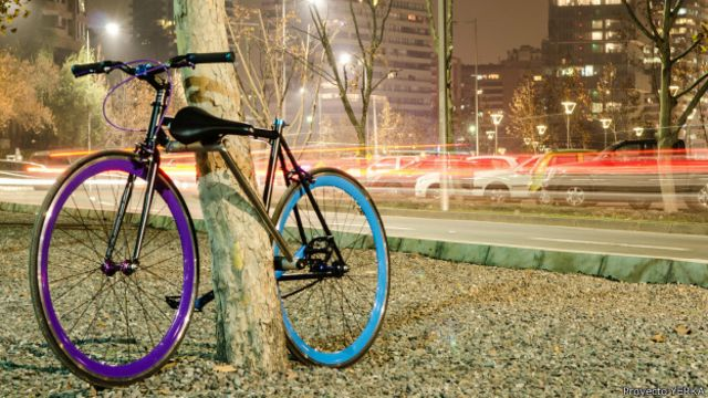 La bicicleta chilena antirrobo que nació de un mal recuerdo