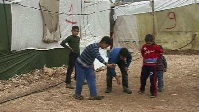 أحد مخيمات الاجئين في لبنان
