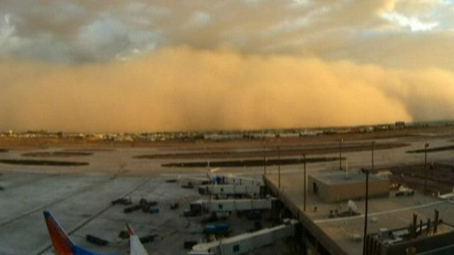 Піщана буря, Фенікс, Аризона