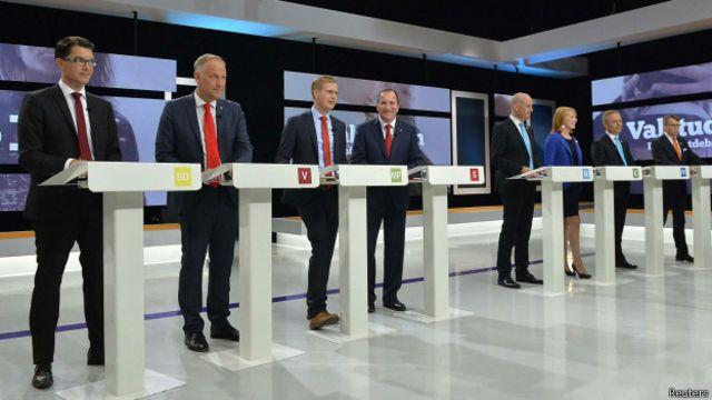Eleição na Suécia: Rivais não fazem ataques pessoais e dividem material