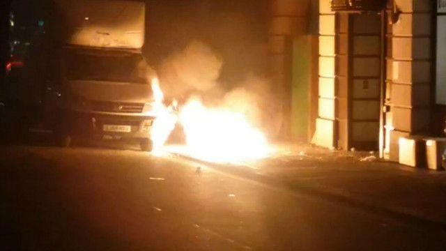 伦敦人行道爆炸