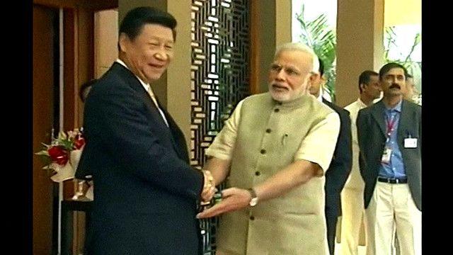 习近平与印度总理莫迪