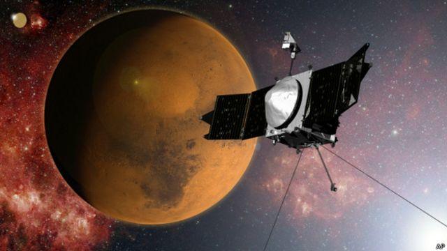 Nave espacial de la NASA se acerca a la órbita de Marte