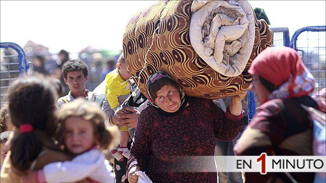 Refugiados sirios huyen a Turquía
