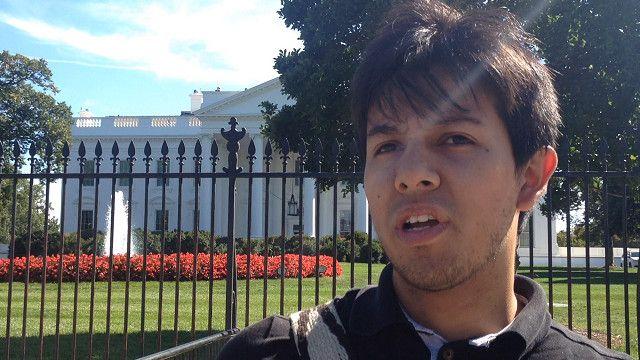 turista en la Casa Blanca