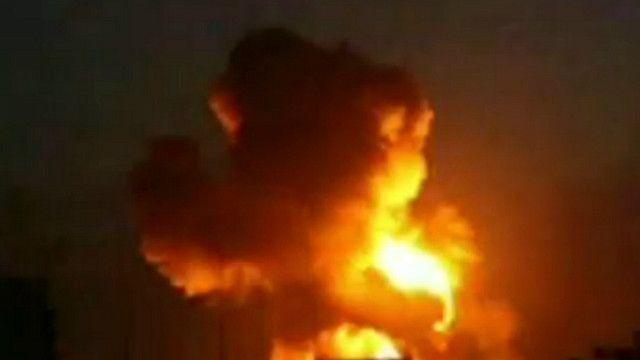 Explosión en Alepo en el norte de Siria, grabada por un aficionado
