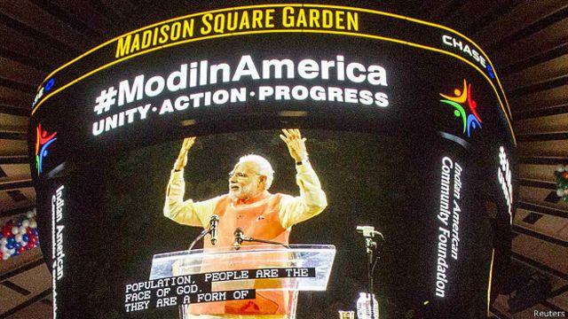 Primer ministro de India pronuncia discurso en Nueva York