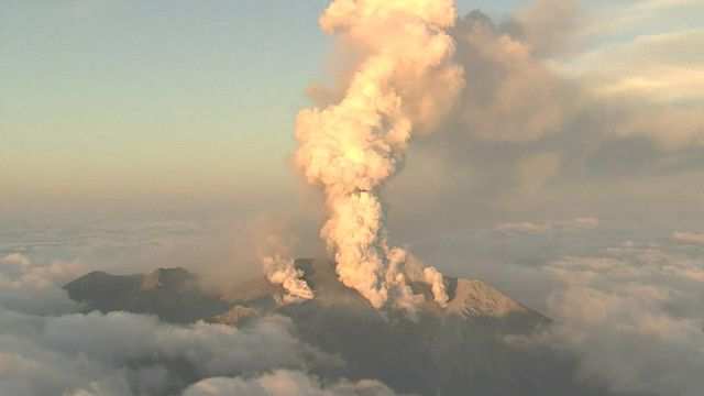 Vulcão no Japão (BBC)
