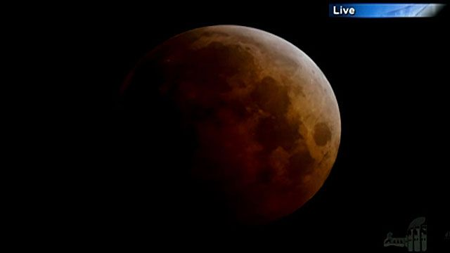 moon, eclipse, blood moon, bbc screen grab