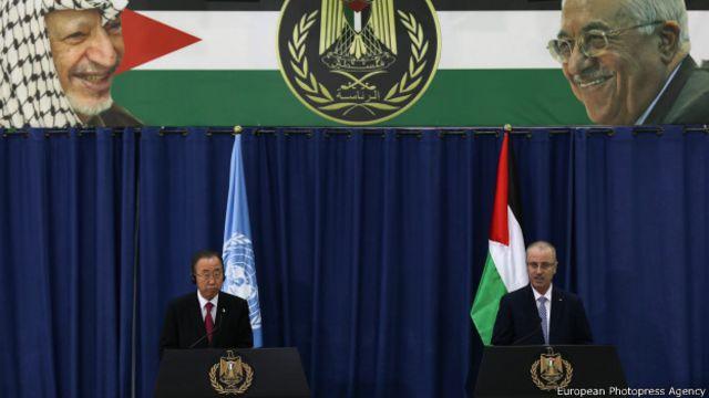 Ban Ki-moon pide reanudación de diálogo de paz entre israelíes y palestinos