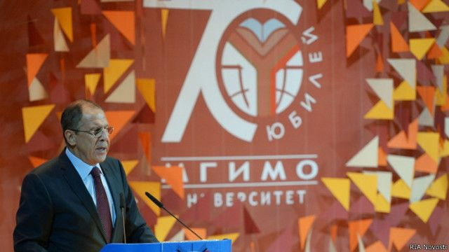 Министр иностранных дел России Сергей Лавров участвует в праздновании 70летия МГИМО. 13 октября 2014 г.