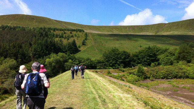 trekkers in Wales