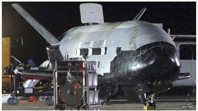 هبوط طائرة الفضاء الأمريكية الغامضة في كاليفورنيا