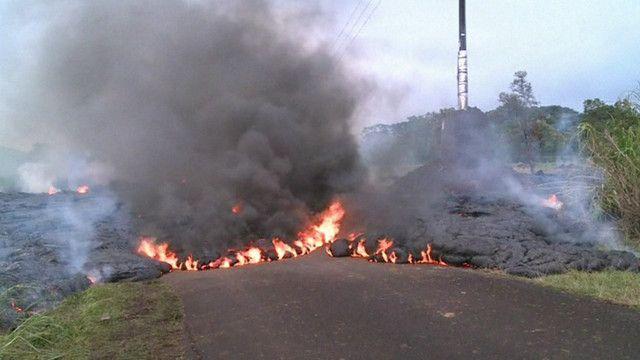 Vulcão no Havaí (BBC)