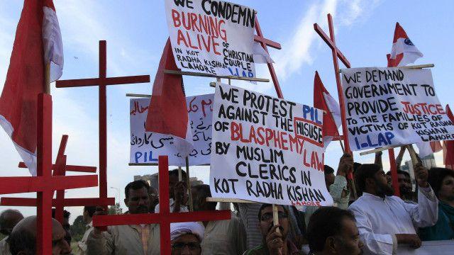مسیحی برادری کا احتجاج
