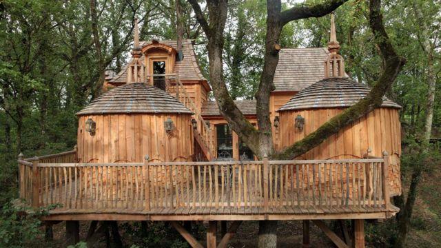 Cinco hotéis que ficam em cima de árvores