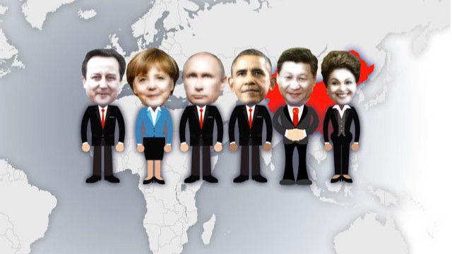 Xi Jinping y líderes