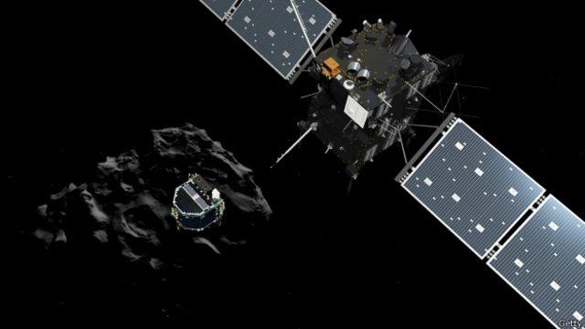 Em feito histórico, homem consegue fazer robô pousar em cometa
