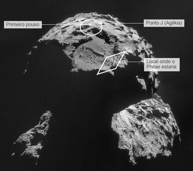 Imagens inéditas mostram pouso acidentado do robô Philae em cometa