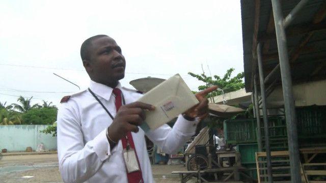 Người đưa thư tại Cotonou ở Benin