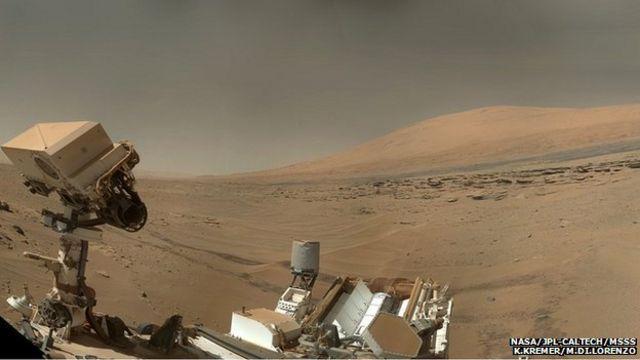 Sonda em Marte 'desvenda enigma de lago que virou montanha'