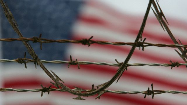 Bandera de Estados Unidos en Guantánamo