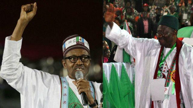 Janar Buhari na APC da Shugaba Jonathan na PDP