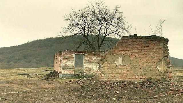 Руины дома в Чечне