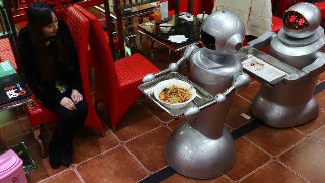 waiter, china, robot
