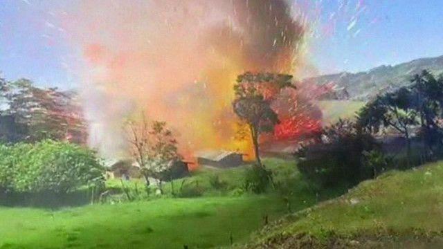 Depósito de fogos de artifício explode na Colômbia