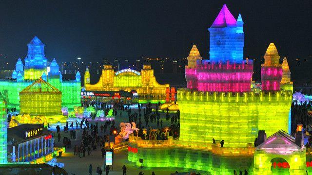 Festival de Hielo y Nieve en Harbin, China